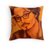 Johnny Depp celebrity portrait Throw Pillow