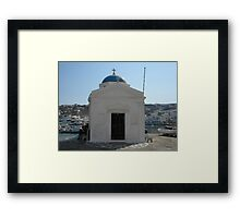 Mykonos Church Framed Print