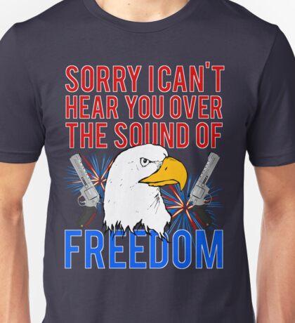 My Freedom America Guns Bald Eagles Fireworks Unisex T-Shirt