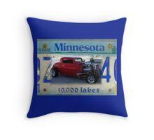 Minnesota Red Streetrod Throw Pillow
