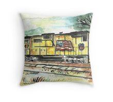 Union Pacific Train Throw Pillow