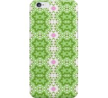 Green, White and Pink Abstract Flower Design iPhone Case/Skin