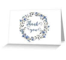 Floral wreath Thank you card Greeting Card
