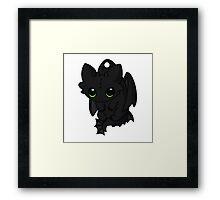 Night Furry cute Framed Print
