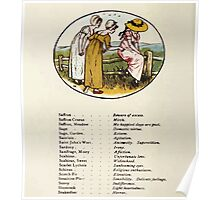 Language of Flowers Kate Greenaway 1884 0042 Descriptions of Specific Flower Significations Poster