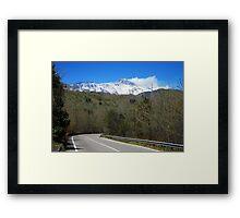 En Route to Mt Etna Framed Print