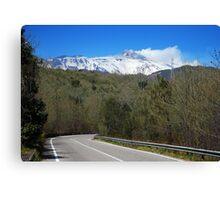 En Route to Mt Etna Canvas Print