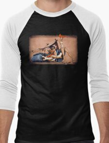 The Flintstones go Lowbrow Men's Baseball ¾ T-Shirt