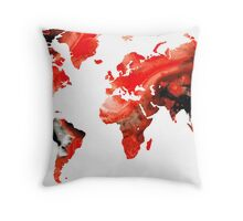 Map of The World 10 -Colorful Abstract Art Throw Pillow