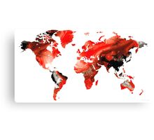 Map of The World 10 -Colorful Abstract Art Canvas Print