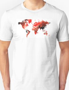 Map of The World 10 -Colorful Abstract Art T-Shirt