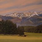 Landscape Painting - Mountain Dream - 18 x 24 Oil by Daniel Fishback