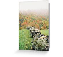 Historic Stone Wall Greeting Card