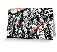 Buildings - Banksy Greeting Card