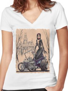 MORTICIA in a T-Bucket Women's Fitted V-Neck T-Shirt