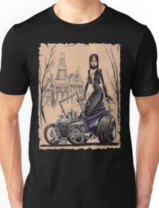 MORTICIA in a T-Bucket Unisex T-Shirt