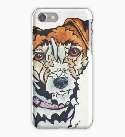 Dog Art #24: Penny the Jack Russell Terrier iPhone Case/Skin
