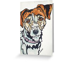 Dog Art #24: Penny the Jack Russell Terrier Greeting Card