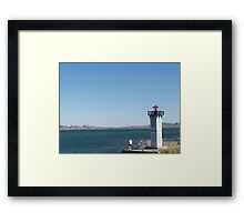 Fishing by the Lighthouse Lake Havasu Framed Print