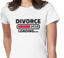 Divorce 2016 Womens Fitted T-Shirt