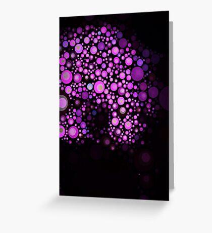 Purple Durple Greeting Card