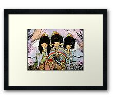 hippy chicks Framed Print