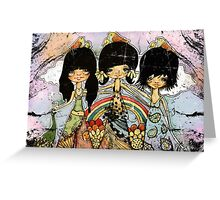 hippy chicks Greeting Card