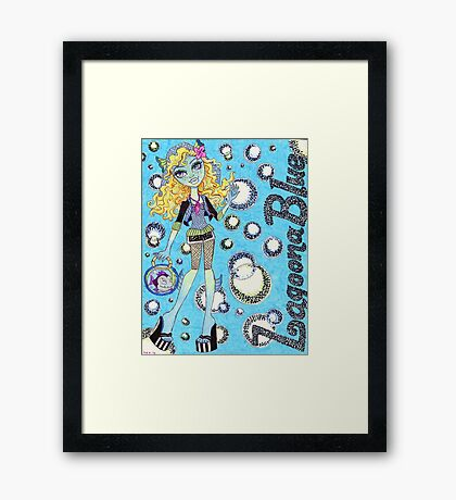 Lagoona Blue Framed Print