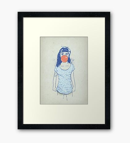 pin up Framed Print
