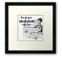 Real Housewife Parody - Retro 50s Housewife - Real Housewives Do Dishes - Clean - Sarcasm Framed Print