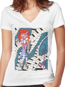 Operetta Women's Fitted V-Neck T-Shirt