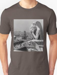France Paris Notre Dame Cathedral The thinker 1970 T-Shirt