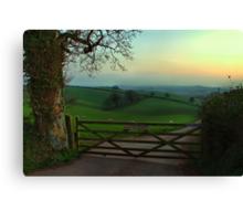 Southcoombe at sunset Canvas Print