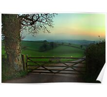 Southcoombe at sunset Poster