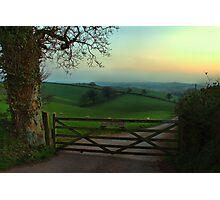 Southcoombe at sunset Photographic Print