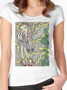 Frankie Stein. Women's Fitted Scoop T-Shirt