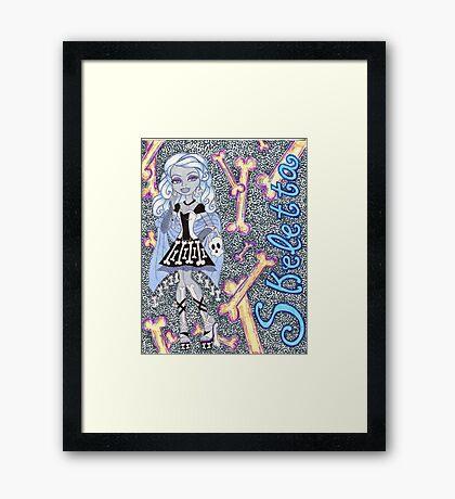 Skeletta Framed Print