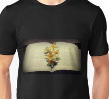 Frangipanis On A Book Unisex T-Shirt