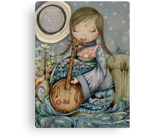 Moon Guitar Canvas Print