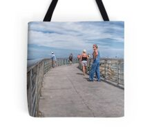A Walk On The Jetty Tote Bag