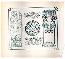 Maurice Verneuil Georges Auriol Alphonse Mucha Art Deco Nouveau Patterns Combinaisons Ornementalis 0028 Poster