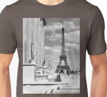 France Paris Eiffel tour Chaillot palace 1970 Unisex T-Shirt