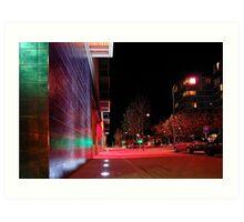 Urban 'scape At Night - Buckinghamshire Art Print
