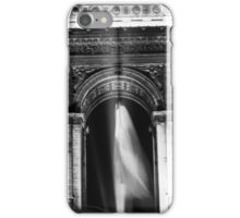 BW France Paris Triumphal arch 1970s iPhone Case/Skin