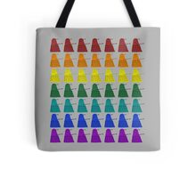 Rainbow march of Daleks Tote Bag