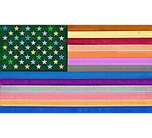 The Hippy Flag Photographic Print