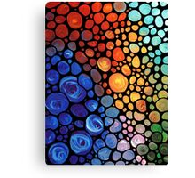 Abstract 1 - Colorful Mosaic Painting Labor of Love by Sharon Cummings Canvas Print