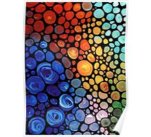 Abstract 1 - Colorful Mosaic Painting Labor of Love by Sharon Cummings Poster