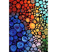 Abstract 1 - Colorful Mosaic Painting Labor of Love by Sharon Cummings Photographic Print