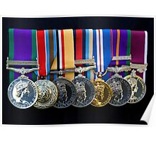 Campaign Medals Poster
